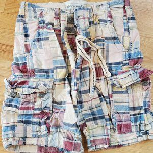 Abercrombie & Fitch Cargo Shorts Patchwork  plaid